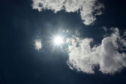 20100913黄昏の日(空)晴天太陽.JPG