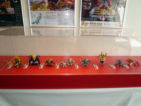 20101024戦国EXPO(SDガンダム)戦国モチーフガンダム勢ぞろい.JPG