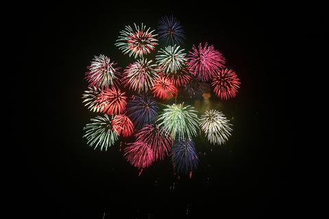 20110208アクアリウム(レッドビー放出日クイズ)花火.JPG