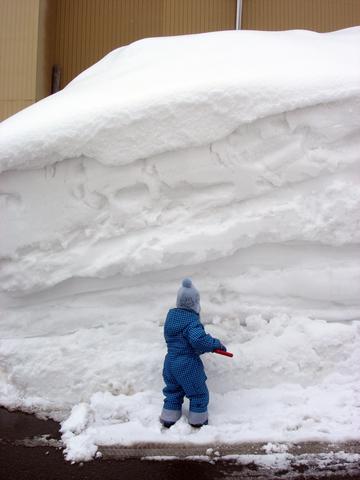 20110215アクアリウム(冬新潟豪雪)雪の壁で雪遊び.JPG