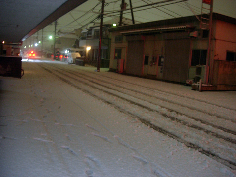20110215アクアリウム(冬関東に雪)積雪夜1.JPG