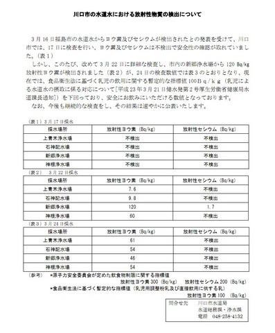 20110325アクアリウム(水道水)浄水場放射性ヨウ素検出川口市.JPG