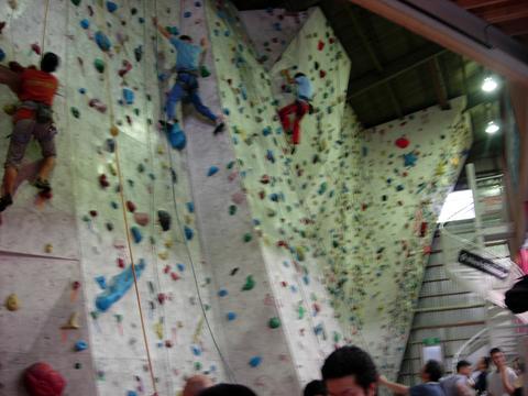 T Wall 1Fボルダーエリア左側トップロープ壁(ボルダリング)アクアリウム
